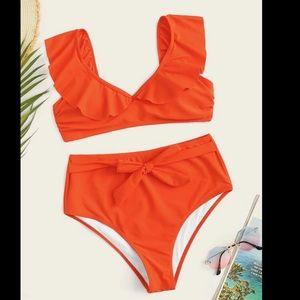 Other - Ruffle Sleeve High Waisted Bikini